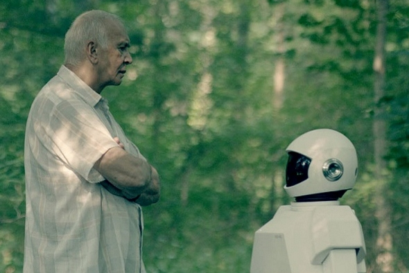 Frank Langella isn't too happy in 'Frank & Robot'