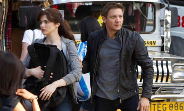 Jeremy Renner and Rachel Weisz in 'The Bourne Legacy'