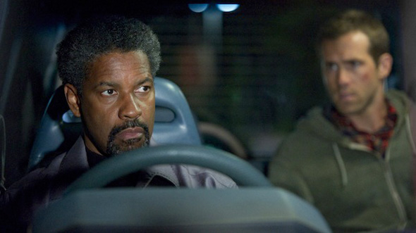 Denzel Washington and Ryan Reynolds in 'Safe House'