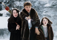 Anna Popplewell (left), William Moseley and Georgie Henley are siblings who become rulers of a mystical land in 'The Chronicles of Narnia: The Lion, The Witch and The Wardrobe'