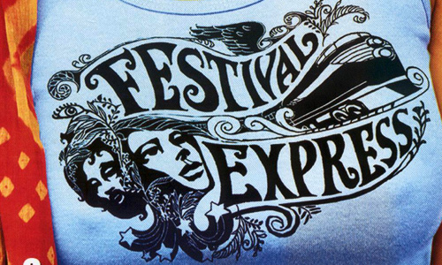 'Festival Express' t-shirt serves as the cover art for this documentary