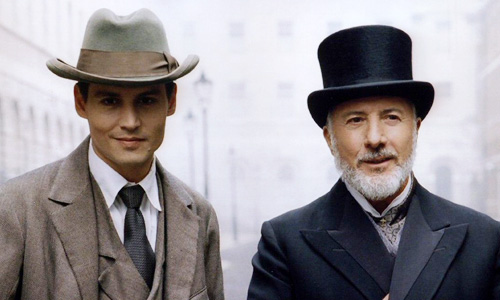 Johnny Depp and Dustin Hoffman in 'Finding Neverland'
