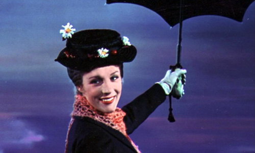 Julie Andrews stars in the iconic role of 'Mary Poppins'
