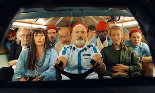The cast of 'The Life Aquatic with Steve Zissou'