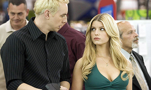 Jessica Simpson, with Dax Shepard, in 'Employee of the Month'