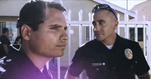 Michael Pena and Jake Gyllenhaal in 'End of Watch'