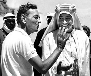 David Lean directs Peter O'Toole in 'Lawrence of Arabia'