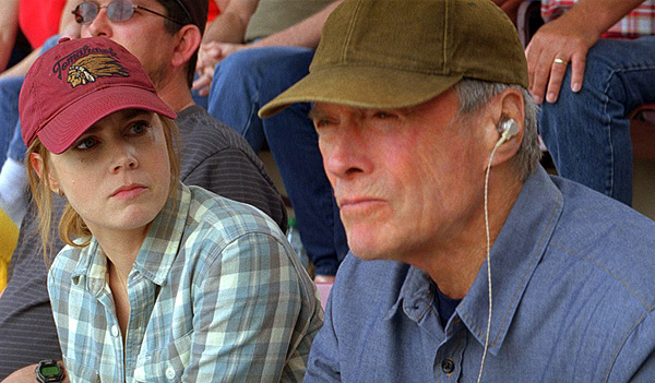 Amy Adams and Clint Eastwood are daughter and father in 'Trouble with the Curve'