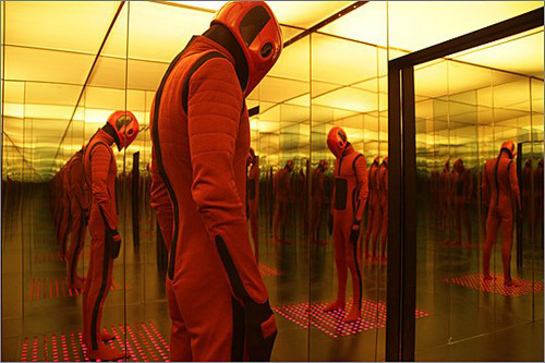 A sentionaut in 'Beyond The Black Rainbow'