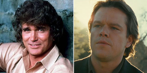 Michael Landon played Charles Ingalls in the TV series - Matt Damon would be a natural fit for the part on the big screen
