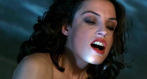 Famke Janssen in her break-out role as the villainous Xenia Onatopp in 'Goldeneye'