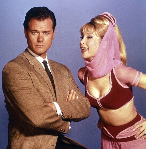 Larry Hagman starred with the sexy Barbara Eden in the 1960s sitcom, 'I Dream of Jeannie'