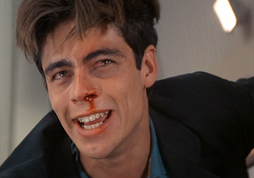 Benicio Del Toro is a brutal killer for a drug lord in 'Licence to Kill'
