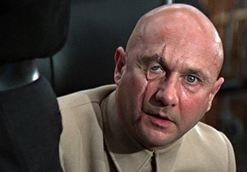 Donald Pleasance shows his face in 'You Only Live Twice'