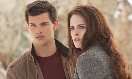 Taylor Lautner and Kristen Stewart in 'Twilight: Breaking Dawn Part 2'