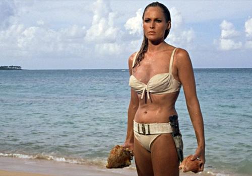 Ursula Andress as Honey Ryder in the first James Bond fim, 'Dr. No'