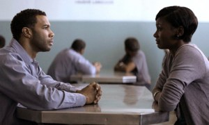Omari Hardwick (left) and Emayatzy Corinealdi are lovers separated by bars in 'Middle of Nowhere'