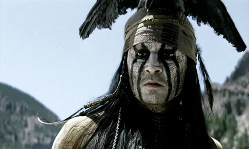 Johnny Depp is all painted up in 'The Lone Ranger' trailer