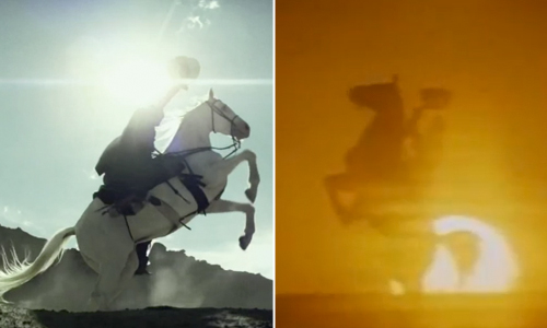 The Lone Ranger and Silver strike a pose in both 2013's 'The Lone Ranger' and 1981's 'The Legend of the Lone Ranger'