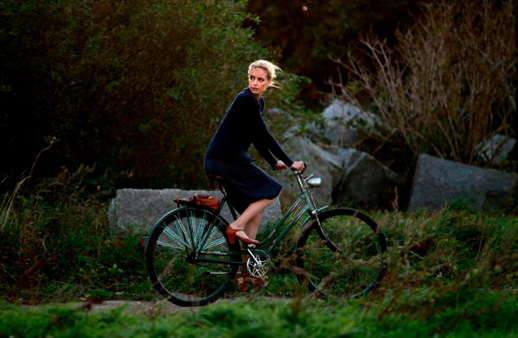 """Barbara"" rides through the East German countryside"