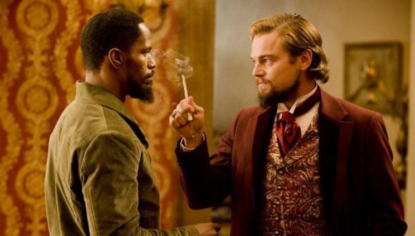Jamie Foxx and Leonardo DiCaprio in 'Django Unchained'