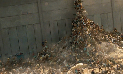 That's a whole lotta zombies in 'World War Z'