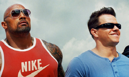 Dwayne 'The Rock' Johnson and Mark Wahlberg in 'Pain & Gain'