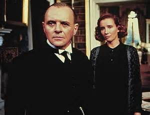Sir Anthony Hopkins and Emma Thompson in a scene from 'The Remains of The Day' one of two films for which Ruth Prawer Jhabvala won an Oscar