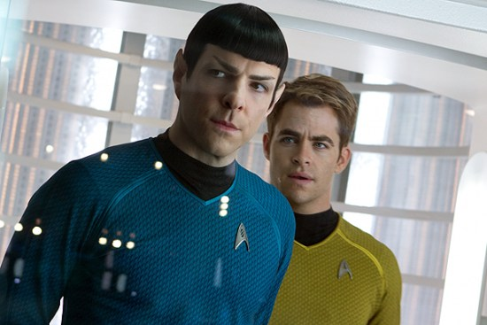 Zachary Quinto returns at Spock and Chris Pine as Kirk in 'Star Trek Into Darkness'