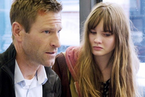 Aaron Eckhart and Liana Liberato are father/daughter in 'Erased'