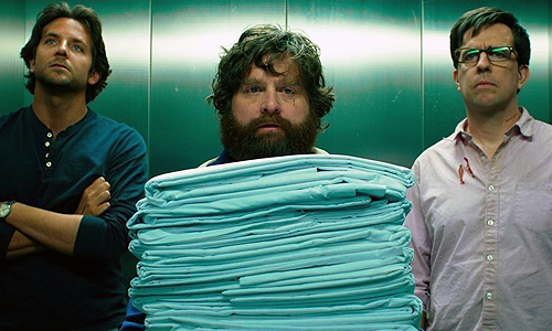 Bradley Cooper, Zach Galifianakis and Ed Helms in 'The Hangover Part III'