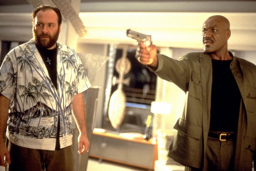 James Gandolfini and Delroy Lindo in a scene from 'Get Shorty'