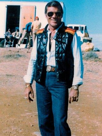 Hal Needham on the set of 'Smokey and the Bandit'
