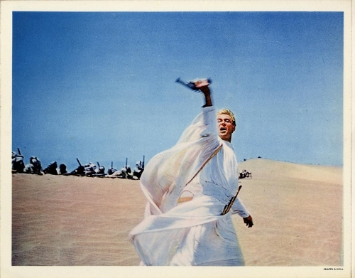 Peter O'Toole in his best-remembered role as the title character in 'Lawrence of Arabia'