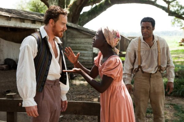 Michael Fassbender, Lupita Nyong'o and Chiwetel Ejiofor in '12 Years A Slave'