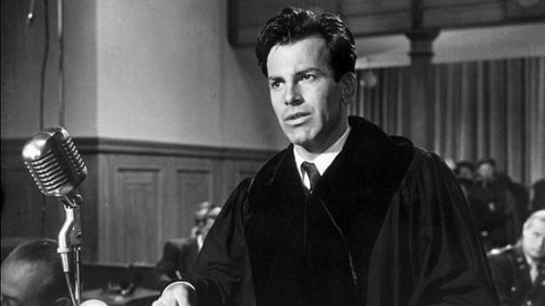 Maximilian Schell in his Oscar winning performance as a defense lawyer in 'Judgement at Nuremberg'