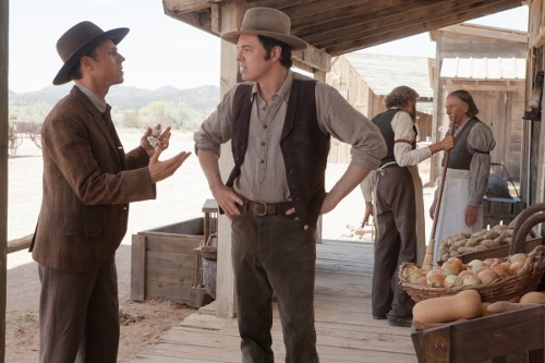 Giovani Ribisi and Seth MacFarlane in 'A Million Ways to Die in the West'