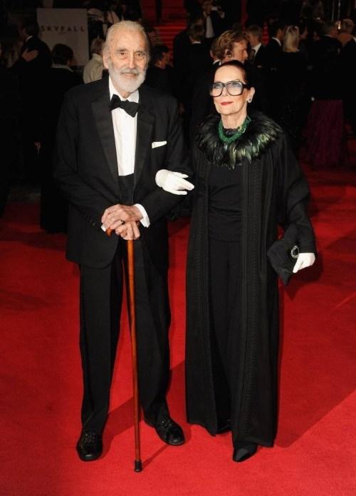 """Christopher Lee and his wife of more than 50 years Birgit """"Gitte"""" Kroencke"""