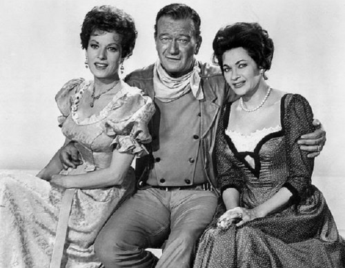 Maureen O'Hara, John Wayne and Yvonne DeCarlo in 'McClintock!'