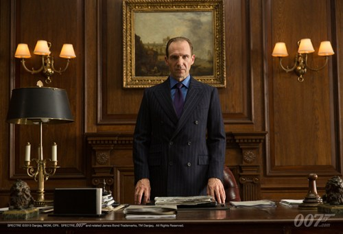 "Ralph Fiennes as ""M"" in 'Spectre'"