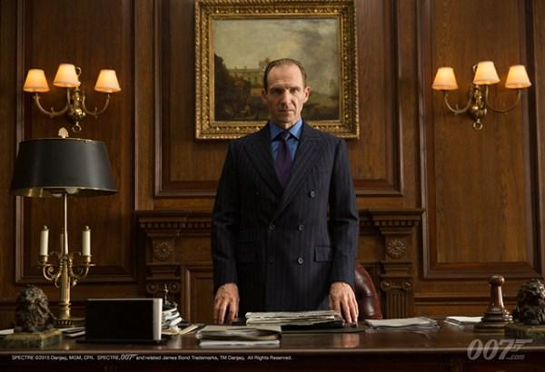 """Ralph Fiennes as """"M"""" in 'Spectre'"""