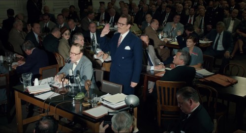 Bryan Cranston as Dalton Trumbo testifying before HUAC in 'Trumbo'
