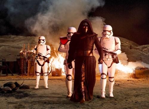 "Adam Driver as ""Kylo Ren"" in 'Star Wars Episode VII: The Force Awakens'"
