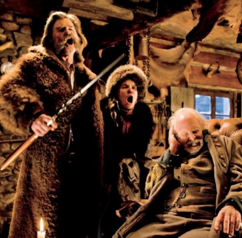 Kurt Russell, Jennifer Jason Leigh and Bruce Dern in 'The Hateful Eight'