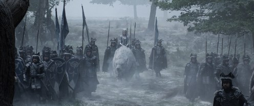 (Center) EMILY BLUNT as Ice Queen Freya assembles an army in the story that came before Snow White: The Huntsman: Winter's War. Chris Hemsworth and Oscar® winner Charlize Theron return to their roles from Snow White and the Huntsman, joined by Blunt and Jessica Chastain.