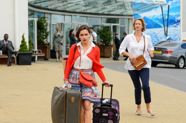 Emilia Clarke and Janet McTeer in 'Me Before You'