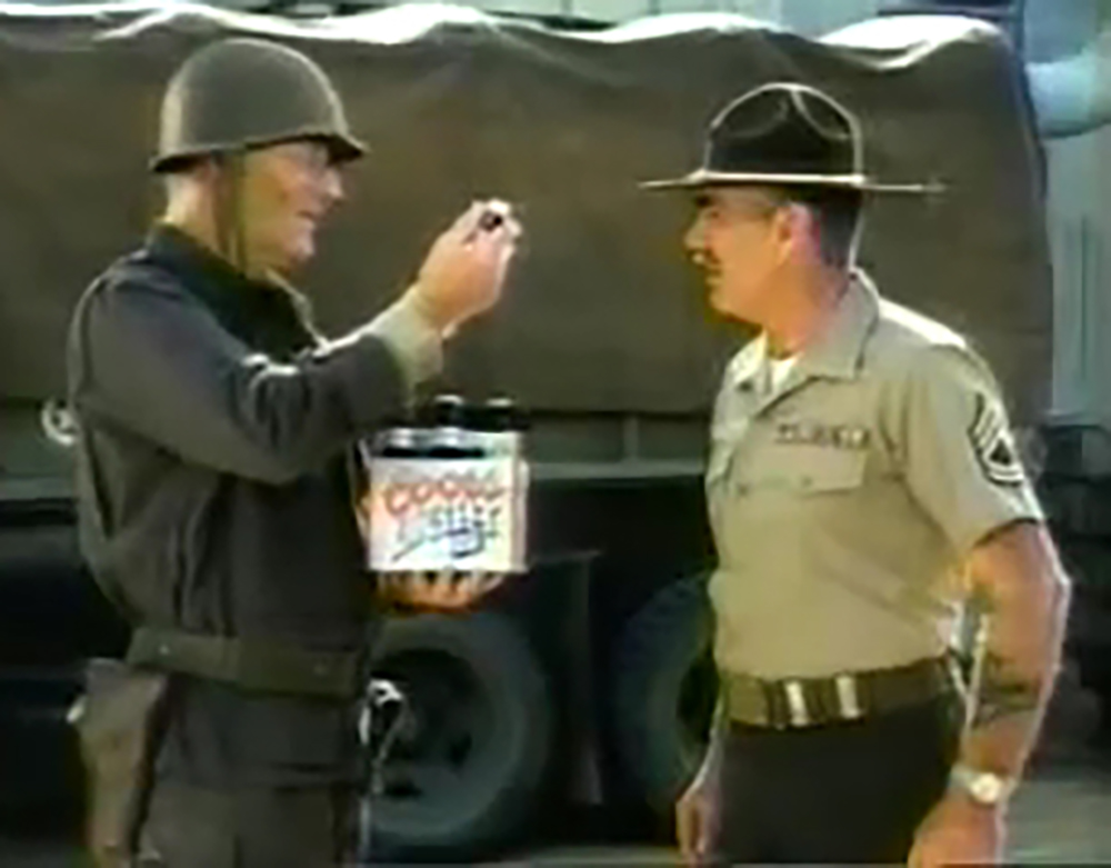 John Wayne opposite R. Lee Ermey in a Coors commercial