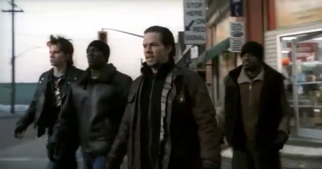 From left to right: Garrett Hedlund, Tyrese Gibson, Mark Wahlberg and André Benjamin in 'Four Brothers'