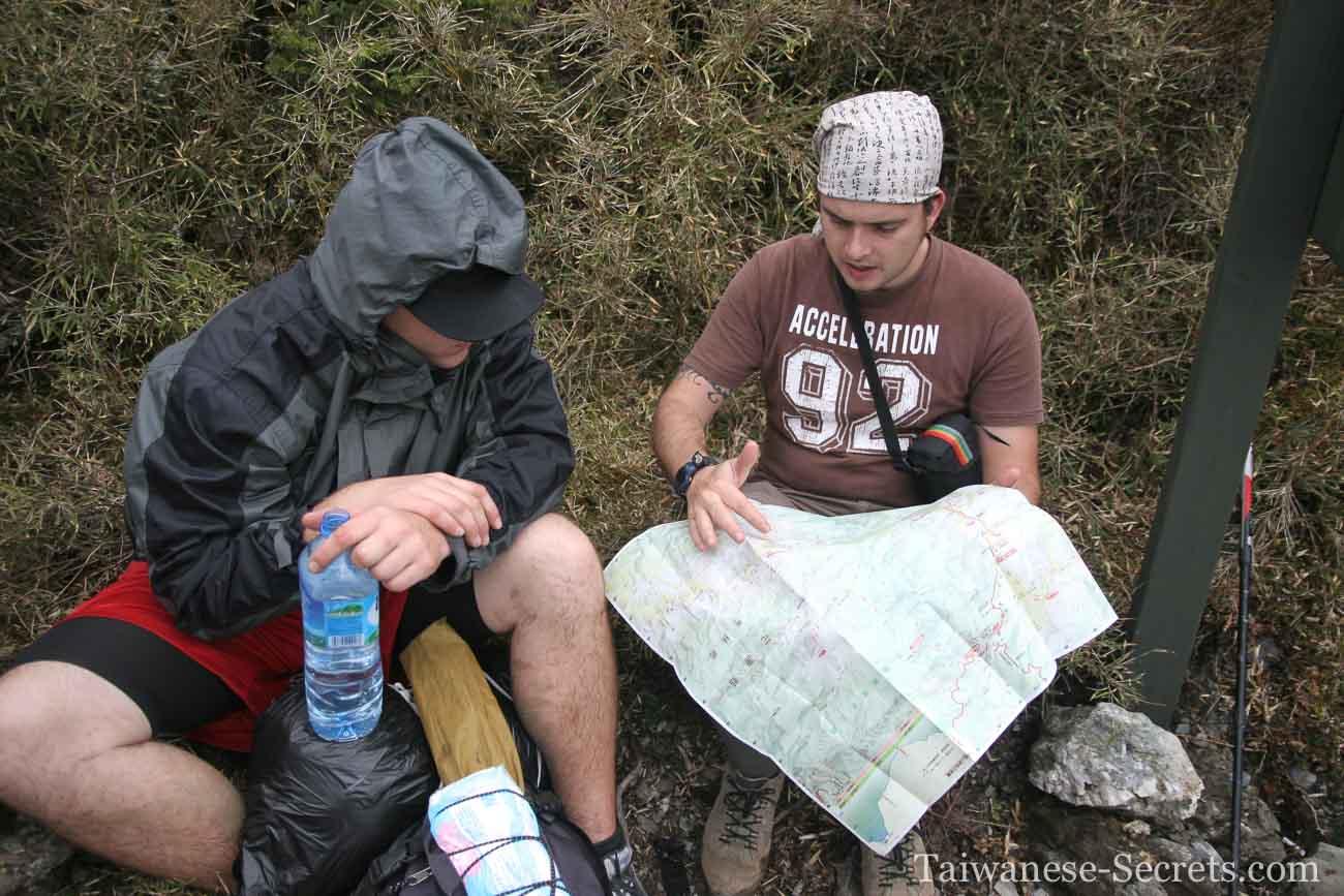 Checking cilai mountain map