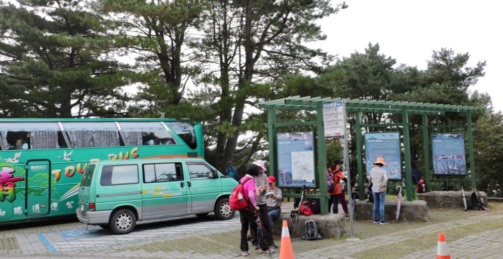 Bus stop at Yushan Jade Mountain Tataka